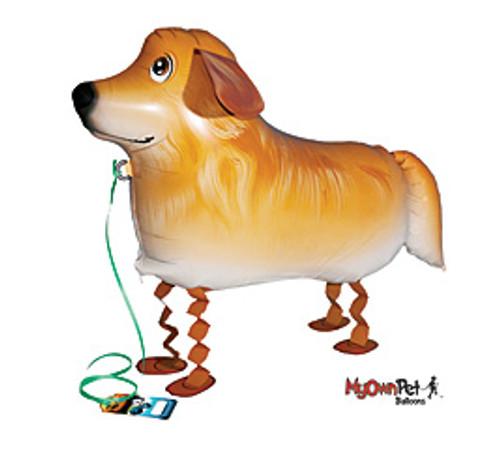 Golden Retriever~ My Own Pet Air Walker Mylar Balloon