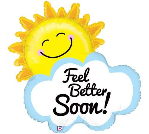 Feel Better Sunshine ~ Super Shape Mylar Balloon