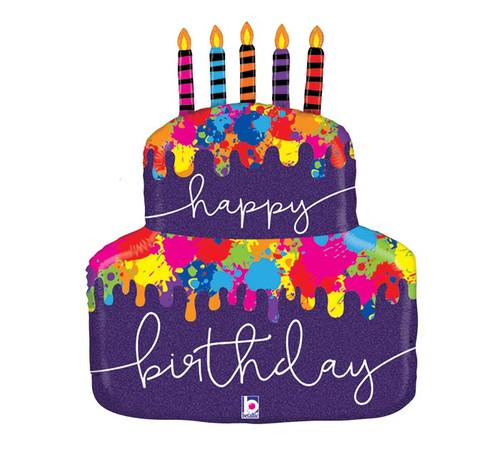 Brithday Cake ~ Super Shape Mylar Balloon