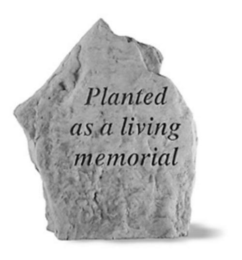 Planted as a Living Memorial Memory Stone
