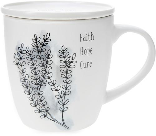 Faith Hope Cure-17 oz with Coaster Lid