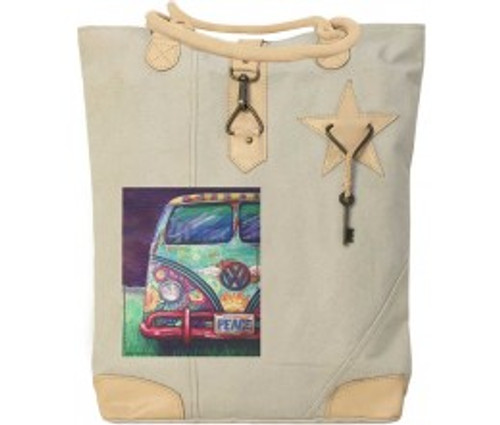 VW Peace Van Canvas Bag by Vintage Addiction