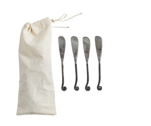 """6"""" Hand Forged Canape' Knives (Set of 4) by Creative Co-op"""