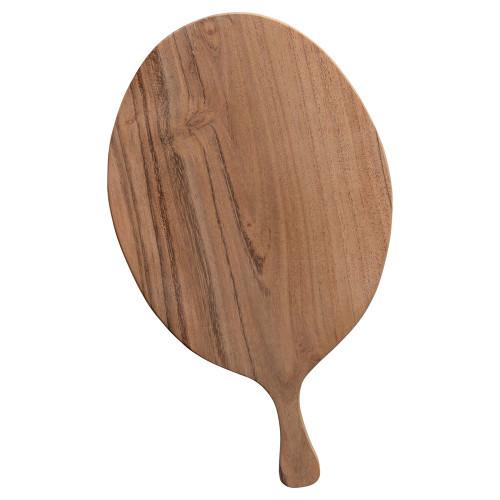 "10"" Acacia Wood Cheese/Cutting Board w/ Handle by Creative Co-op"