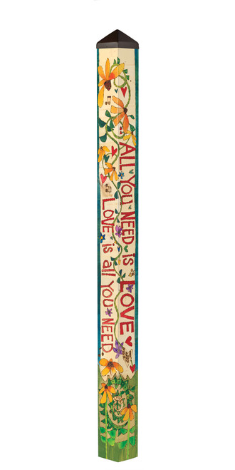All You Need Is Love 6' Art Pole by Studio-M