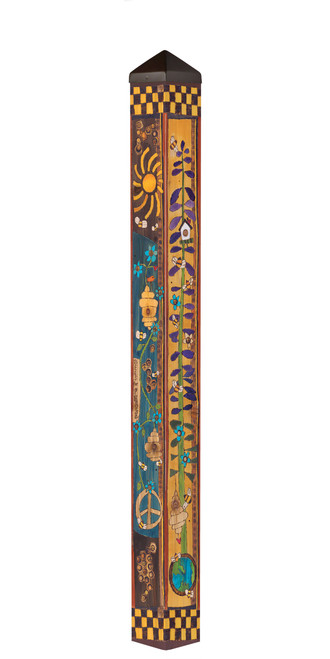 """Bees for Peace 60"""" Art Pole by Studio-M"""