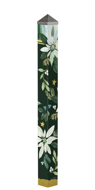 "Poinsettia Joy 60"" Art Pole by Studio-M"