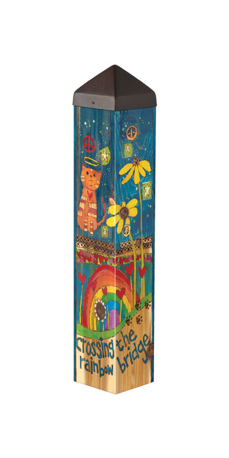 "Rainbow Bridge Cat 20""  Art Pole"
