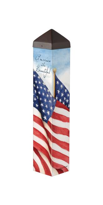 "America the Beautiful  20""  Art Pole"