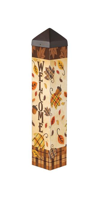 """Plaid Leaves 20""""  Art Pole"""