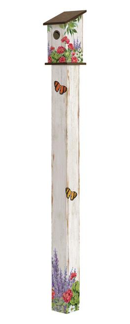 Summer Garden 6' Birdhouse Art Pole