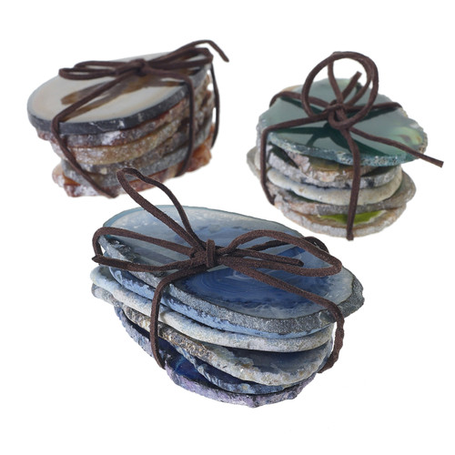 Agate Slices (Set of 5) by Accent Decor