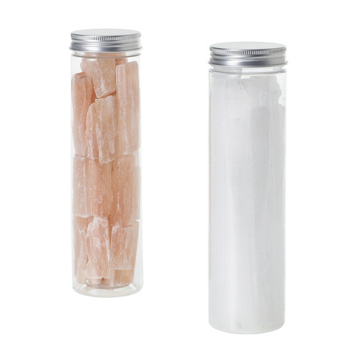 Jar of Natural Selenite Stones  by Accent Decor