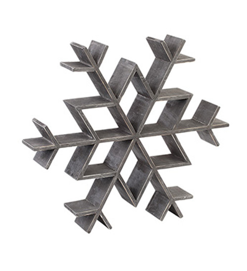 Wooden Snowflake Wall or Shelf Fixture