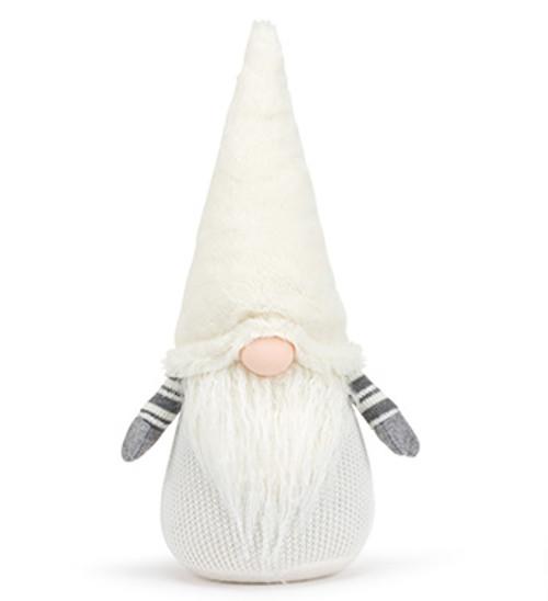 """18"""" Cream, Grey & White Crochet Gnome"""
