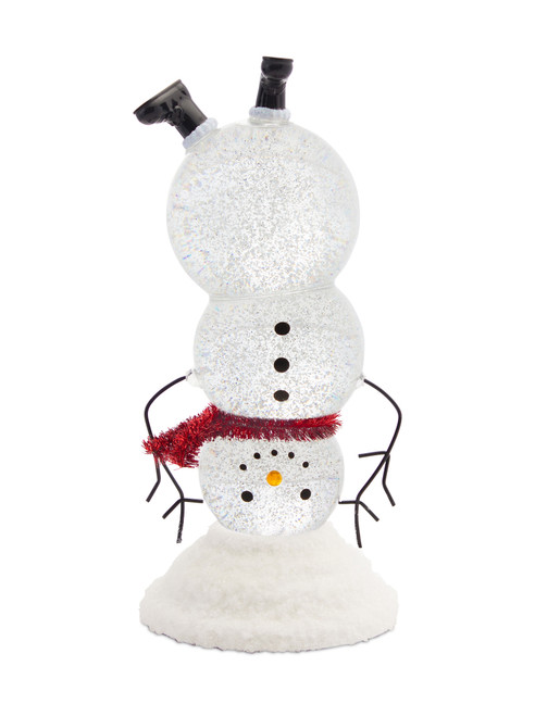 "10.5"" LED Snowman Snow Globe W/6 HR Timer"