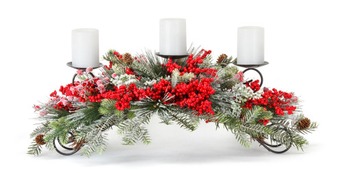"""31"""" Pine and Berry Artifical Centerpiece"""