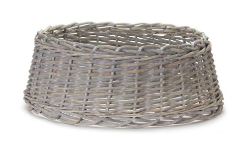 "24"" Tree Stand -  White Rattan Basket"