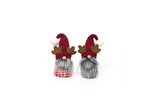 """11"""" Gnome with Antlers,  Set of Two"""