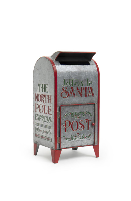 """16""""  Metal """"Letters to Santa"""" Post Office"""