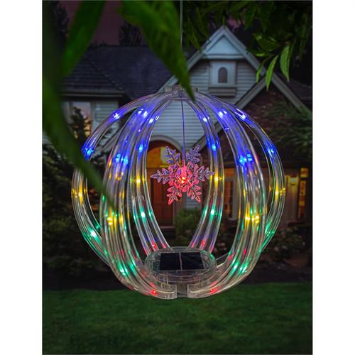 Chasing Multicolor Light Solar Sphere Mobile, Snowflake