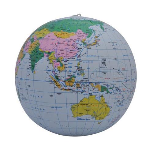"12"" Blue Political Inflatable Globe"