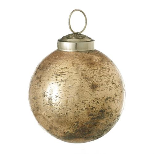 "3"" Bestow Glass Ornaments  Copper Set of 6"