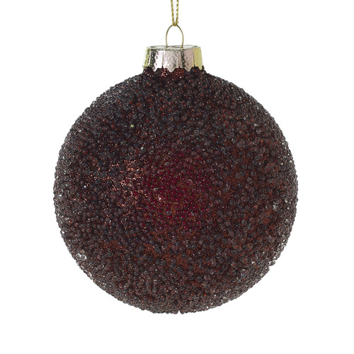 """3"""" Shimmer Glass Ornaments Red ~ Set of 6"""