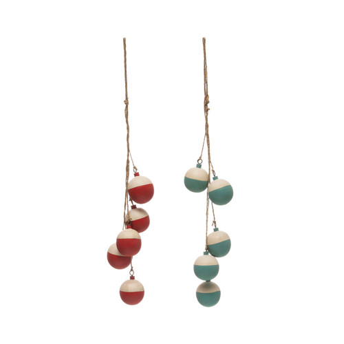 """14-1/2""""H Wood Bobber Cluster, 2 Colors - Set of 2"""
