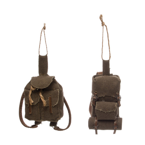 """3-1/4""""H Canvas Backpack"""