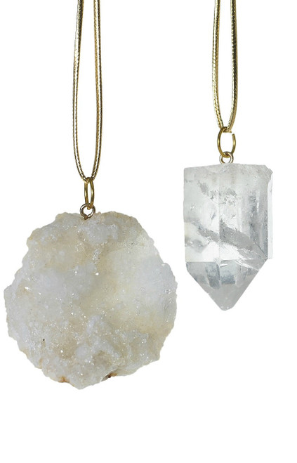 Geo-Stone Ornaments (Two Styles to Choose)