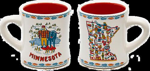 Minnesota Mug, Stoneware (Set of 2)
