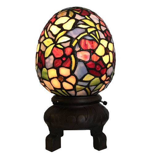 Tiffany Style Egg Shaped Accent Lamp