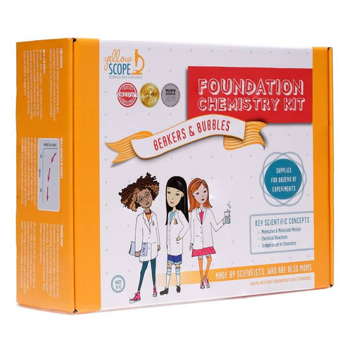 Girls Discover Science ~ Foundation Chemistry Kit: Beakers & Bubbles Educational Kit ~ Kids 8-12