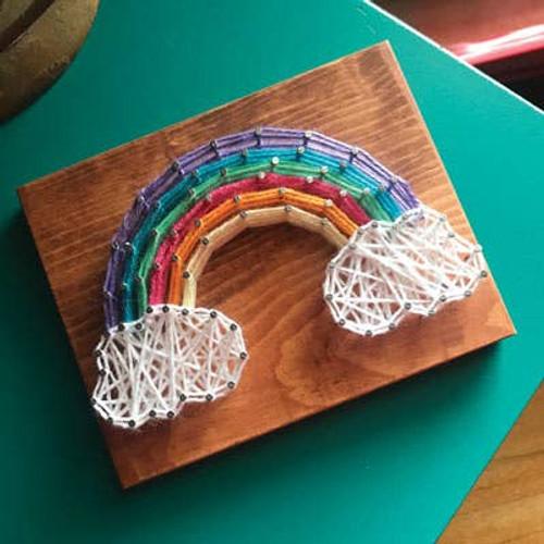 Rainbow Mini String Art Kit ~ Ages 8+