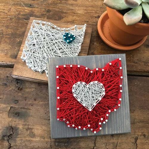 Minnesota State Shape Mini String Art Kit  ~ Ages 8+