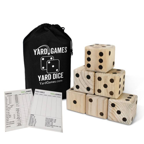 Giant Wooden Yard Dice Set ~ Take the Game Outdoors!