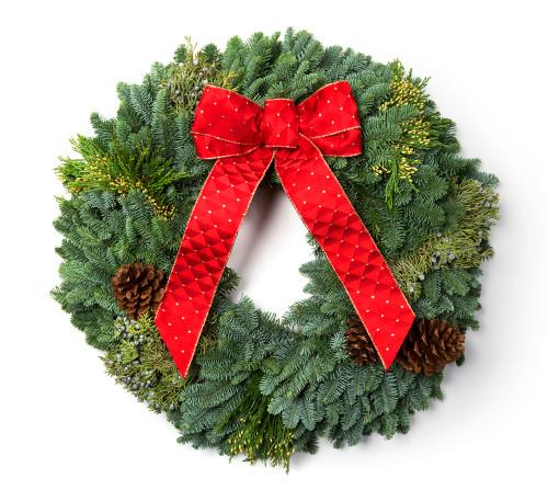 "24"" Mixed Western Pine  Wreath"