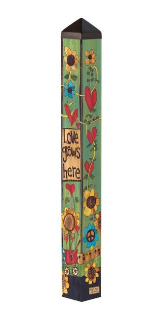 "Where Love Grows 40"" Art Pole"