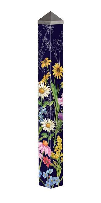 "Wildflower Mix 40"" Art Pole"