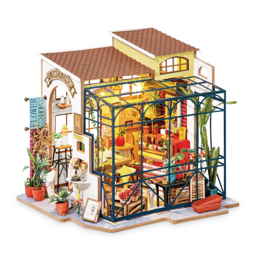 DIY Minature Flower Shop Doll House -  Fun for Kids and Adults