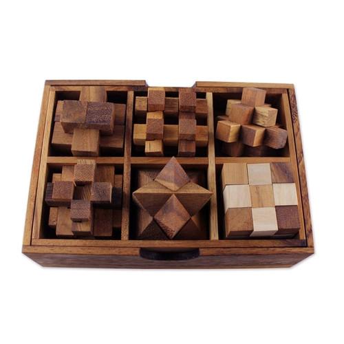 Logical Mind Wood Puzzles - Set Of 6