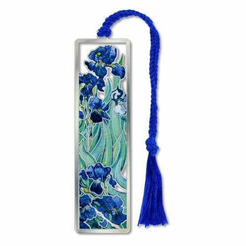 Vincent Van Gogh Irises Bookmark- Electro-plated Giclee Print