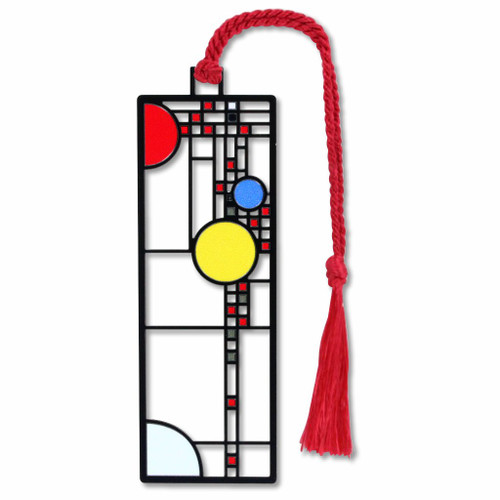 Frank Lloyd Wright - Coonley Playhouse Window Bookmark- Electro-plated Giclee Print