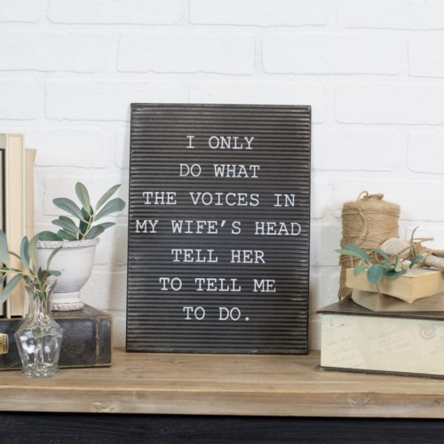 """12.5"""" """" Voices in my head..."""" Metal Sign"""