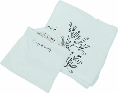 "Positivity~ 50"" X 60"" Travel Blanket W/Case"