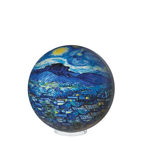 "4.5"" Self Turning Van GoghStarry Night Print on a  Globe with Acrylic Base by Mova"