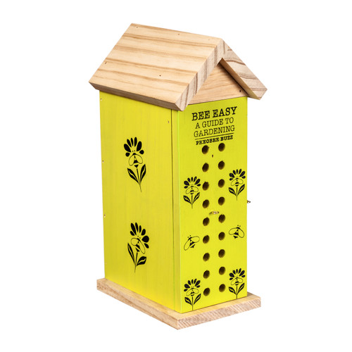 """10""""H Book Bee House, Bee Easy Bee Observation by Evergreen"""