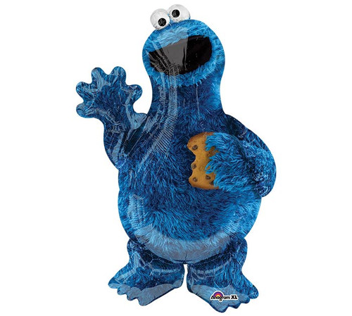 "35"" Cookie Monster ~ Super Shape Mylar Balloon"