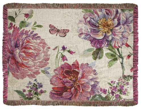 Obviously Pink  Tapistry Mini or Lap Throw Quilt